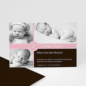 Bedankkaartje geboorte dochter - Ons meisje op de kaart - 1