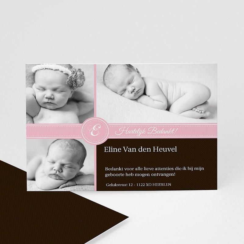 Bedankkaartje geboorte dochter - Ons meisje op de kaart 9965 thumb