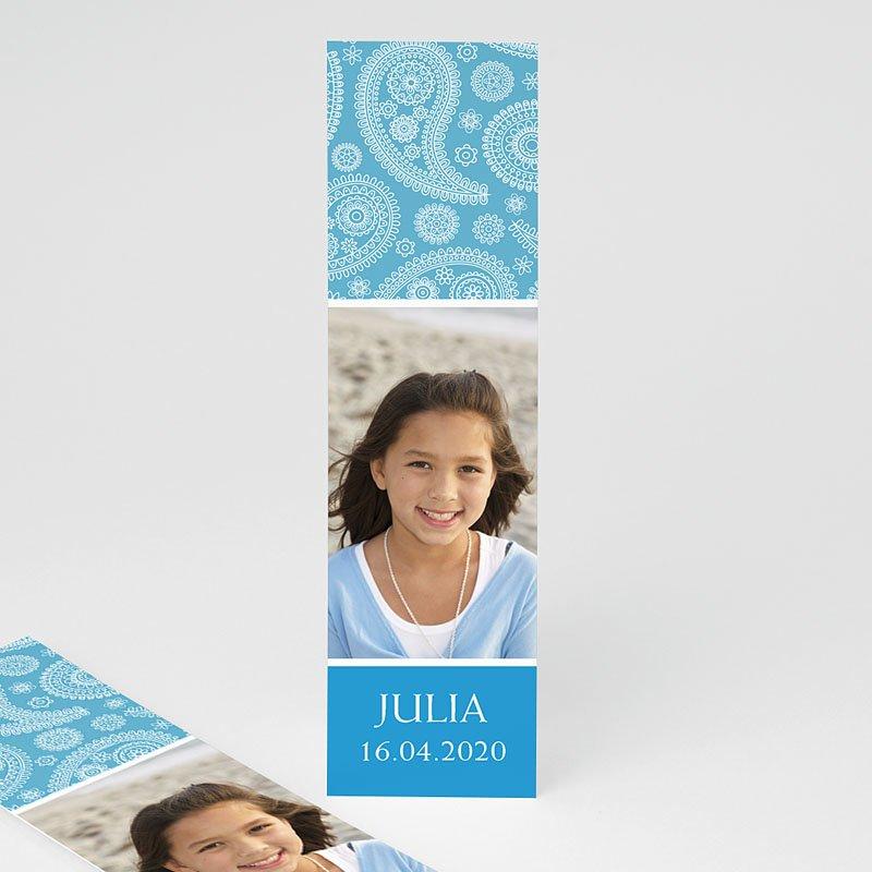 Boekenlegger - Paisley blauw 9989 thumb