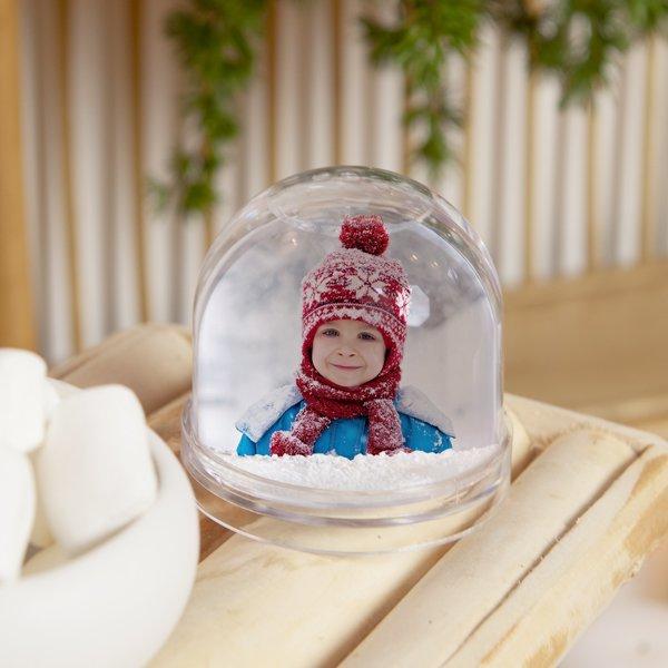 Gepersonaliseerde Sneeuwbol Met Foto
