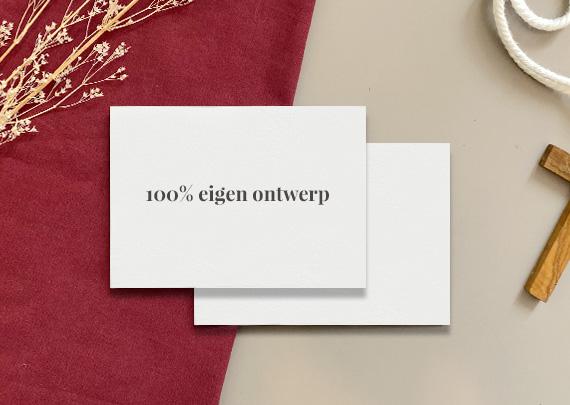 100% eigen ontwerp Uitnodigingen Uitvaart