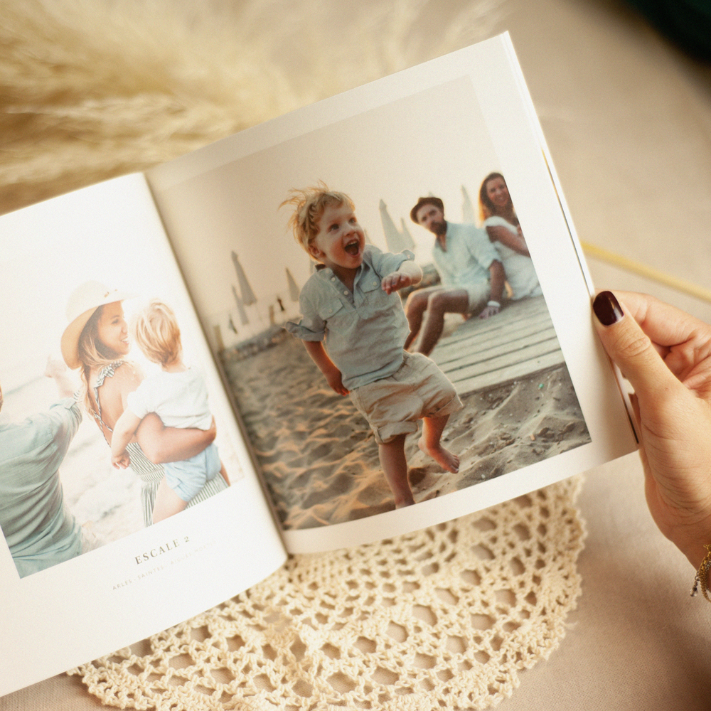 Natuurlijk vierkant fotoboek
